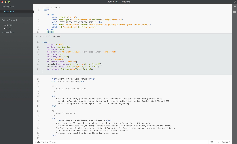 Screenshot menunjukkan Edit Cepat CSS