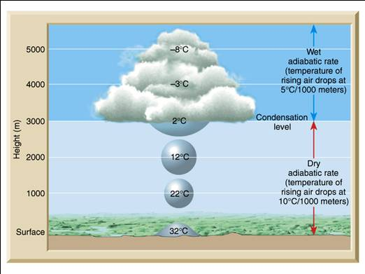 cumulus cloud and dew point (b) ice crystals in cirro-cumulus clouds (c) ice crystals in cirrus  previous post:  humidity: relative humidity & dew point.